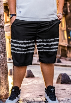 Picture of Plus Size Men Prints Street Style Shorts