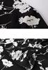 Picture of V Neck Elegant Irregular Bottom Prints Dress