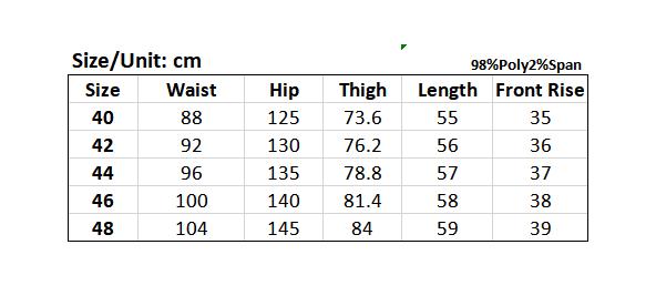 Picture of Plus Size Contrast Color Men's Shorts
