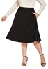 Picture of Plus Size Knee Length Flare Skirt With Side Pockets