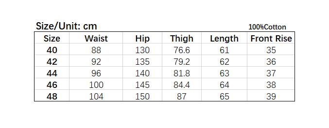 Plus Size Ribbon Cargo Shorts size chart.